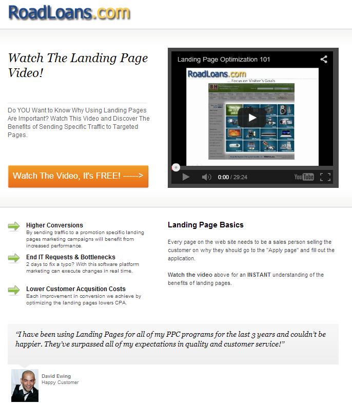 unbouncepages.com landing page demo